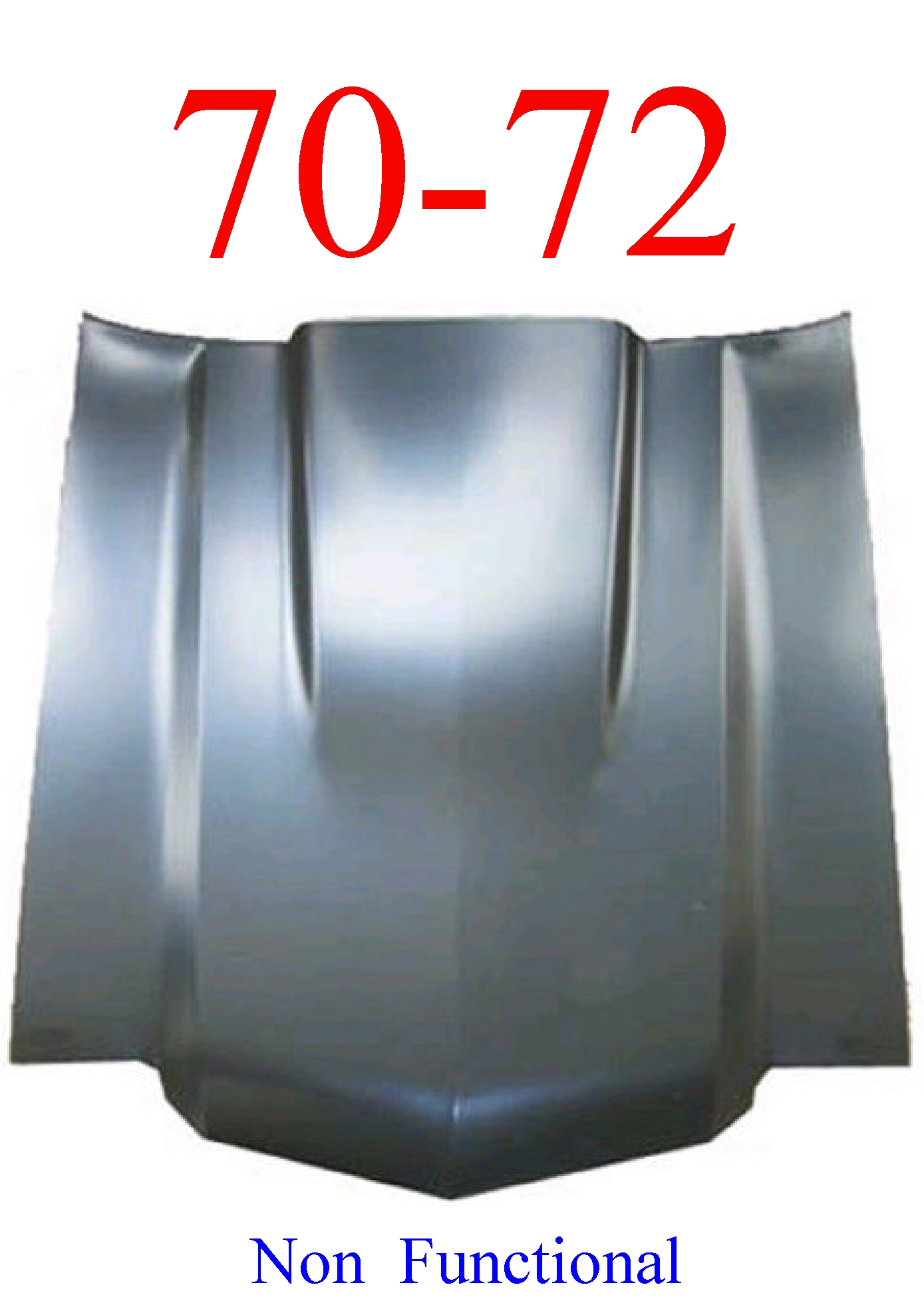 "70-72 Chevy Chevelle SS 2"" Cowl Hood Non Mechanical"